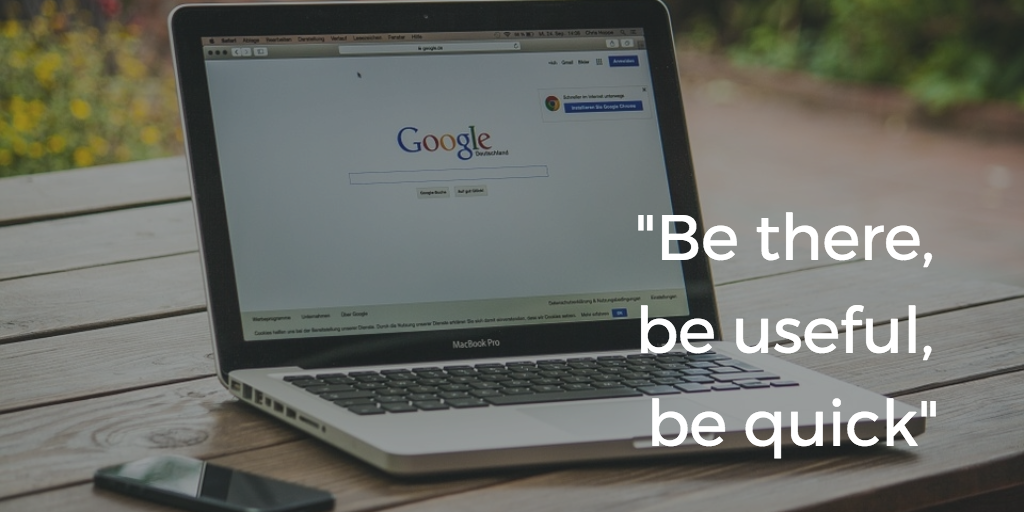 SEO strategy - searcher intent - google advice